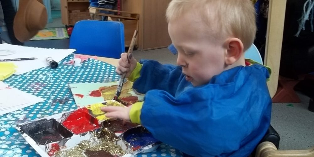 Painting at Rainbow Nursery