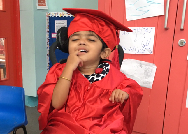 Rainbow Nursery parent whose child graduated to SEN School in September