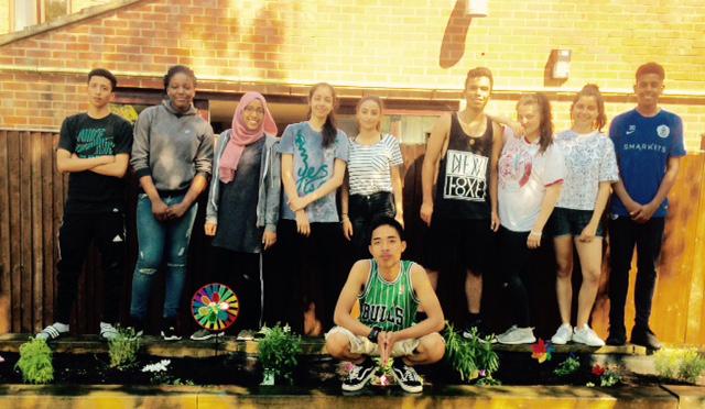 NCS The Challenge volunteering at Kingsbridge Road Garden